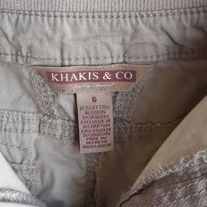 Khakis & Co. Shorts Size 6 Cargo Khaki 6 Pockets